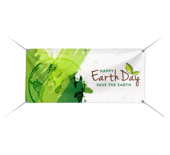 Earth With Sun Earth Day Banner Party Backdrop Decoration
