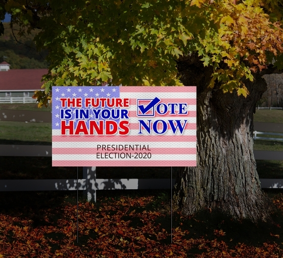 Election HIP Reflective Signs