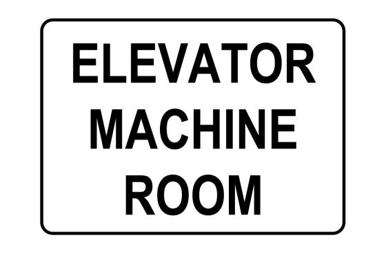 Elevator Machine Room Sign