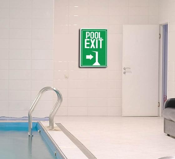 Exit Pool Signs