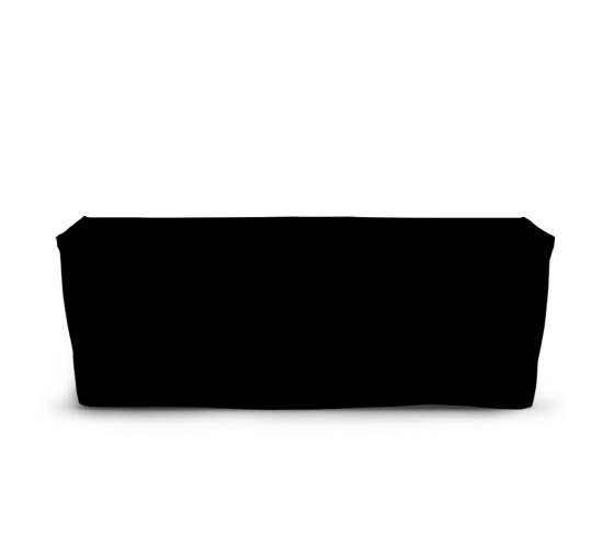 8' Fitted Table Covers - Black