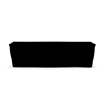 8' Fitted Table Covers - Black - 4 Sided