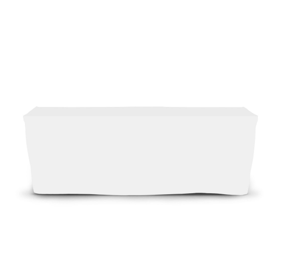 8' Fitted Table Covers - White