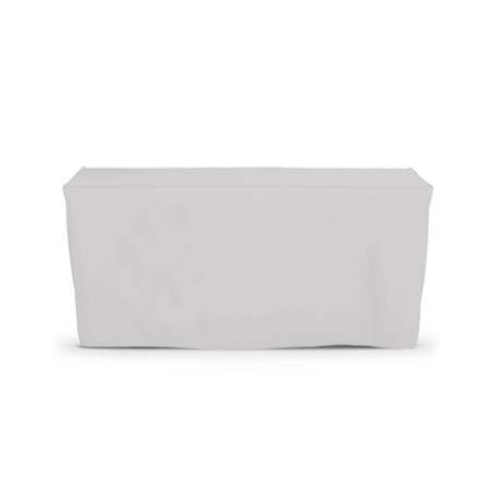 4' Fitted Table Covers - White - Zipper Back