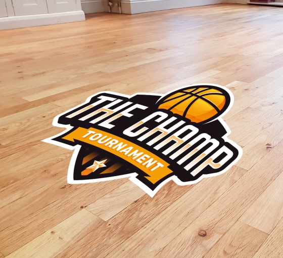 Floor Decals / Signs (Clear with frosted)