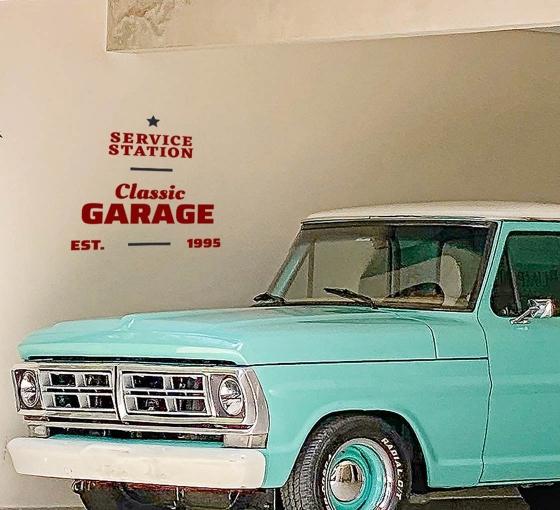 Garage Vinyl Letters
