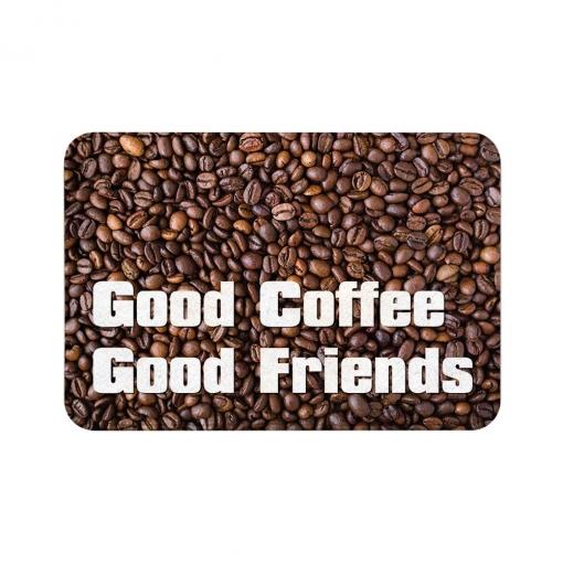 Good Coffee Good Friends Floor Mats