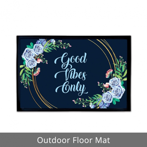 Good Vibes Only Outdoor Floor Mats