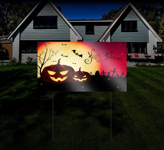 Halloween HIP Reflective Yard Signs