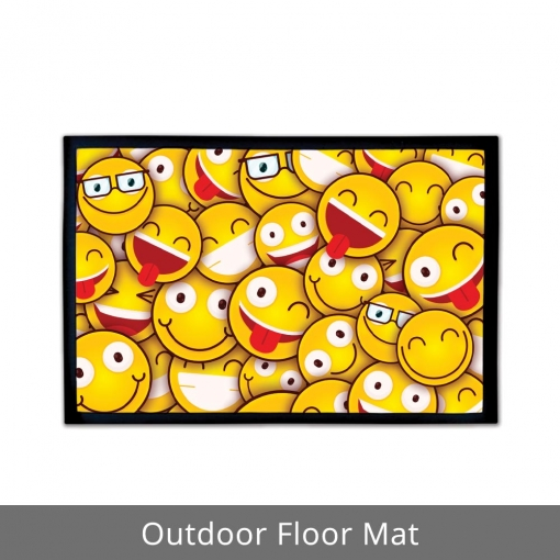 Happy Faces Outdoor Floor Mats