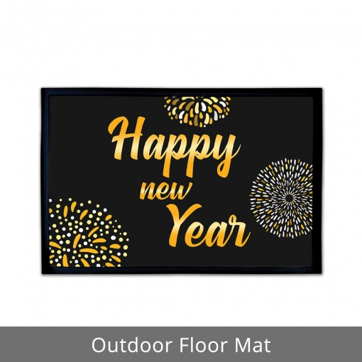 Happy New Year Outdoor Floor Mats