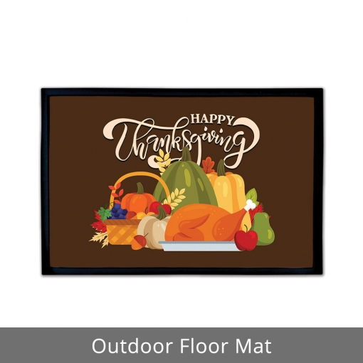 Happy Thanksgiving Outdoor Floor Mats