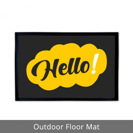 Hello Outdoor Floor Mats