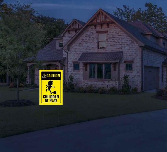 HIP Reflective Caution Yard Signs
