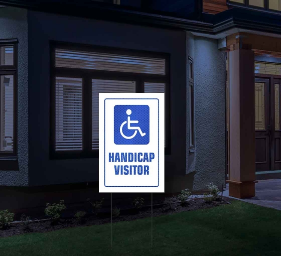 HIP Reflective Handicap Yard Signs
