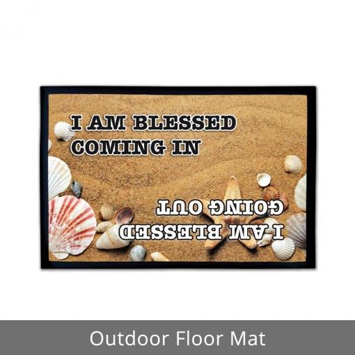 I Am Blessed Outdoor Floor Mats