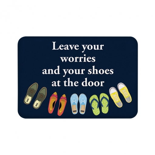 Leave Your Worries Floor Mats