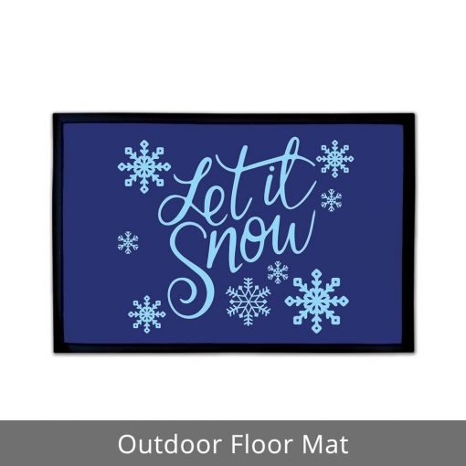Let It Snow Outdoor Floor Mats