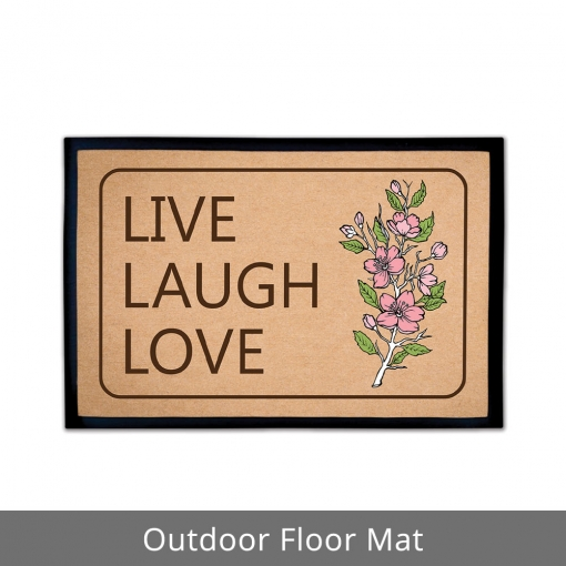 Live Laugh Love Outdoor Floor Mats