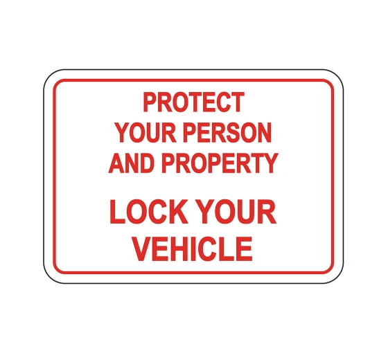 Lock Your Vehicle Sign