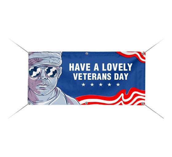 11th NOVEMBER HAPPY VETERANS DAY Banner Waterproof 16 Oz Vinyl Military Day Sign