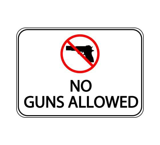 No Guns Allowed Label Sign
