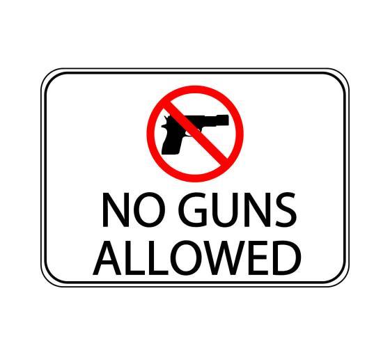 No Guns Allowed Symbol Label