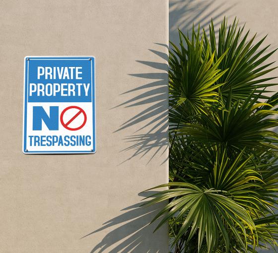 No Trespassing Patio Signs