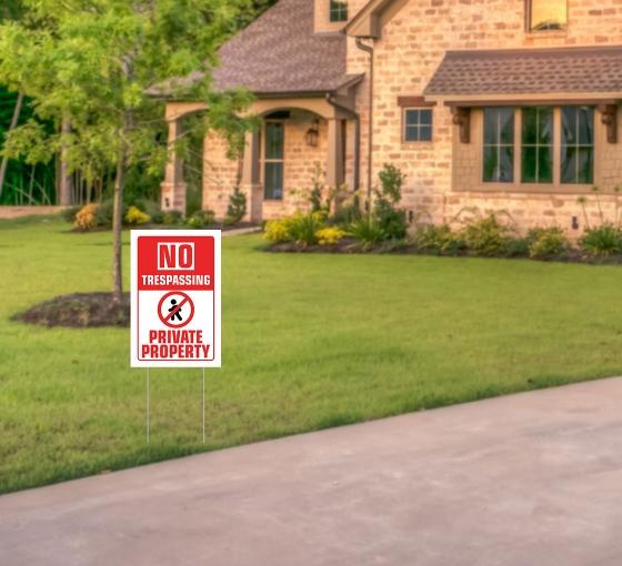 No Trespassing Yard Signs