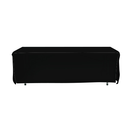8' Open Corner Table Covers - Black