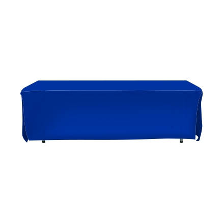 8' Open Corner Table Covers - Blue - 4 Sided