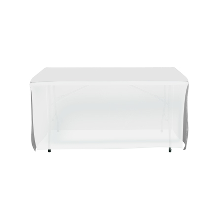 4' Open Corner Table Covers - White - 4 Sided