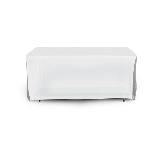6' Open Corner Table Covers - White