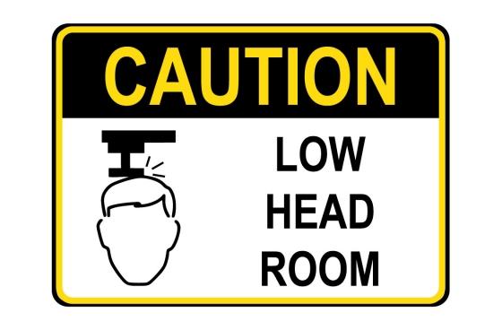OSHA CAUTION Low Head Room Sign