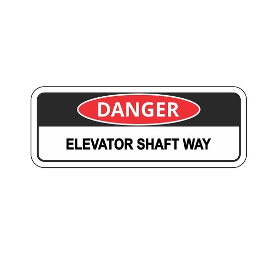 OSHA DANGER Elevator Shaft Way Sign