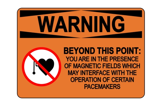 OSHA WARNING Beyond This Point Magnetic Fields Sign