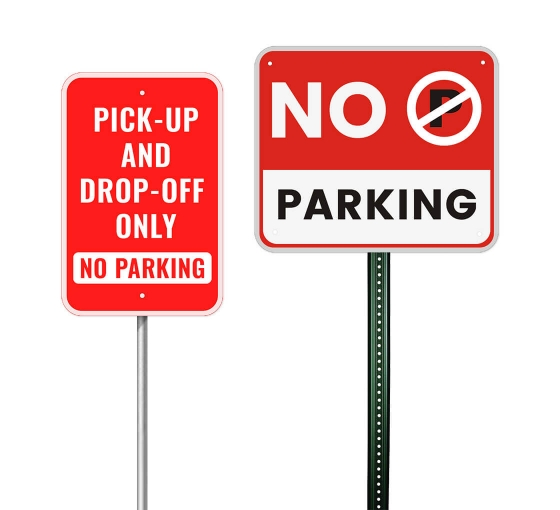 CUSTOM PARKING SIGN Metal Set your own text and add a logo