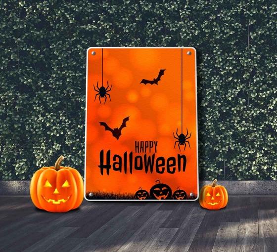 Halloween Reflective Patio Signs