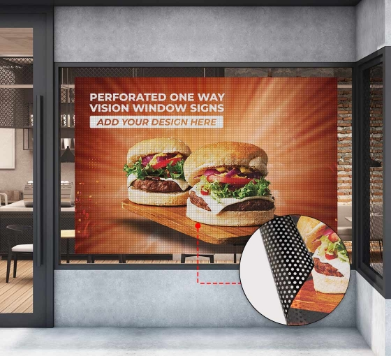 Perforated Window / One Way Vision Signs