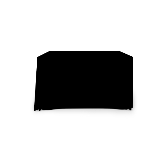 4' Pleated Table Covers - Black