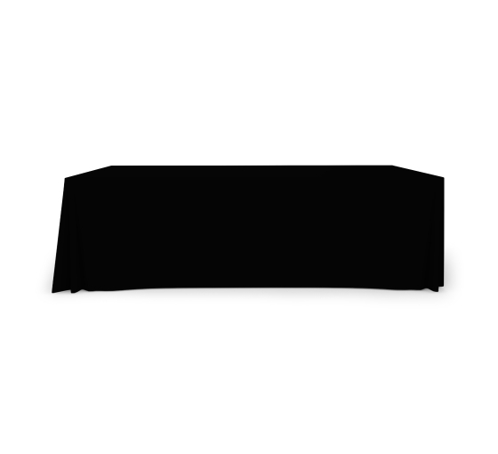 8' Pleated Table Covers - Black