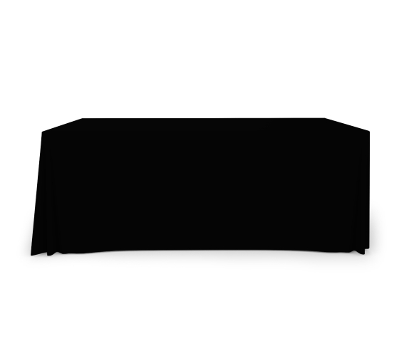 6' Pleated Table Covers - Black