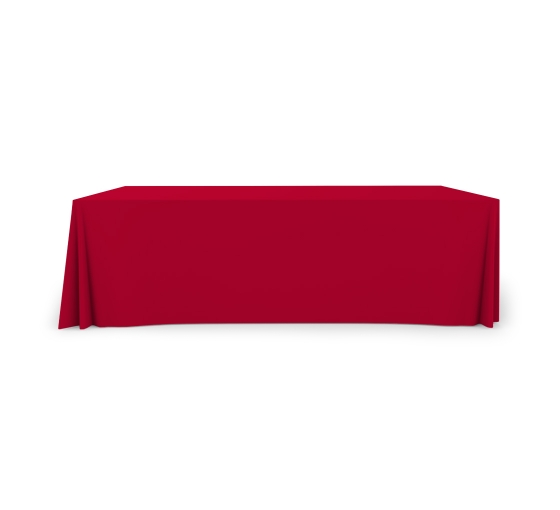 8' Pleated Table Covers - Red