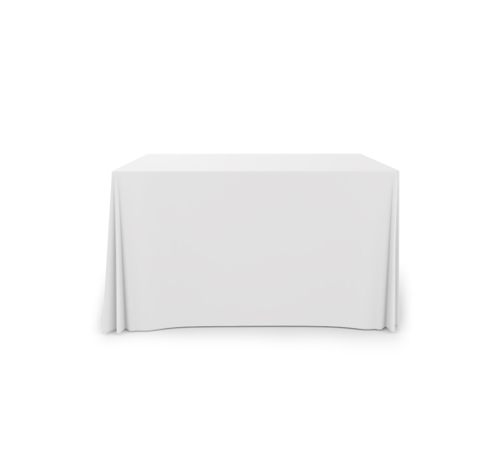 4' Pleated Table Covers - White