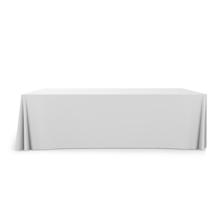 8' Pleated Table Covers - White