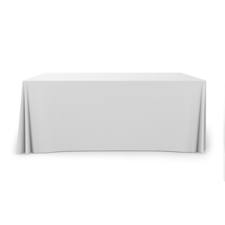 6' Pleated Table Covers - White