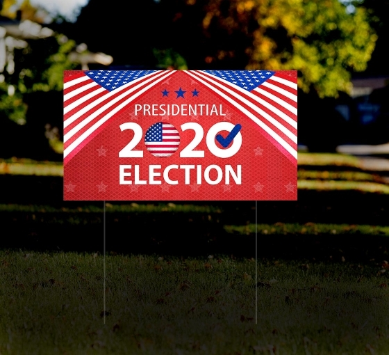 Political HIP Reflective Yard Signs