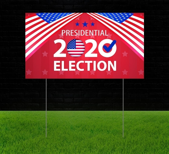 Political Reflective Yard Signs
