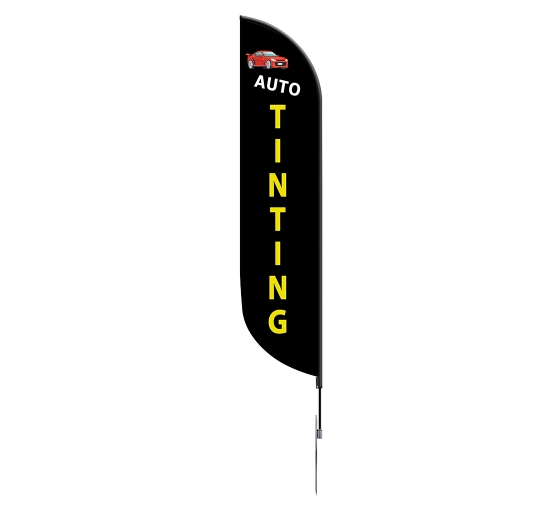 Pre-Printed Auto Tinting Feather Flag