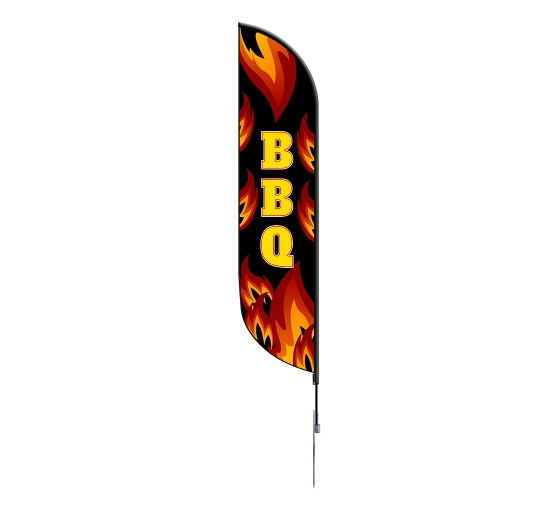 Pre-Printed BBQ Feather Flag